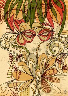 Ilustrações da artista brasileira Kalina Juzwiak
