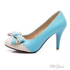 lovely PU Upper Stiletto Heels Closed-toes Wedding Shoes