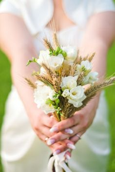 wheat floral | ... Wheat Posy designed by Wedding Florist at My Wedding Flower Ideas
