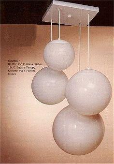 4 White Globe Pendant Lighting