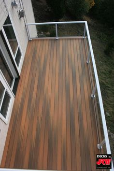Composite decking and glass railing #deck