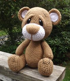 (4) Name: 'Crocheting : Little Brown Teddy Bear