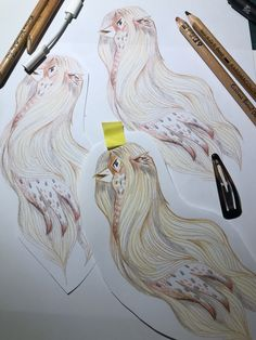 Daily amabie drawings for the lockdown during . An amabie is a mythological Japanese mermaid type creature with 3 tails who is said to be of help in times of epidemics- you are to draw its picture and show it to people Japanese Mythology, Japanese, Drawings, Mermaid, Creature Drawings, Art, Mythology, Humanoid Sketch, Japanese Folklore
