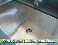 www.houzz.com/... Price: $744.00 zero radius undermount kitchen sinks