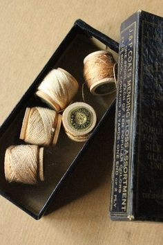 Old cotton reels