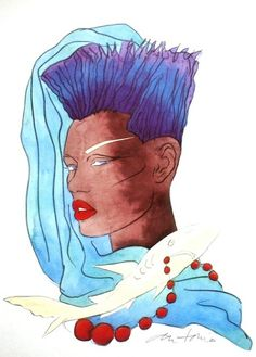 Grace Jones por Antonio López - lord_lagarto