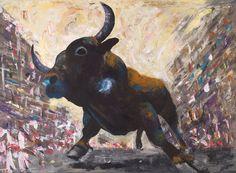 Encierros. Running of the bulls. 110x150cm