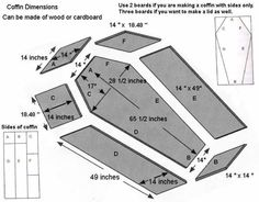 Coffin plans – cut from styrofoam and faux finish @ decorating-by-day
