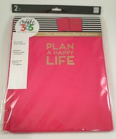 Create 365 The Big Happy Planner Snap-in Hard Cover by MAMBI Pink 2017 for sale online Journal Notebook, Journals, Notebooks, Plan A, How To Plan, Happy Planner Cover, Create 365, Happy Life, Have Fun