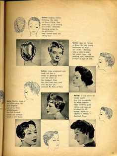 Beauty is a thing of the past 1950s Hairstyles, Vintage Hairstyles, Vintage Glamour, Vintage Beauty, Vintage Vanity, Historical Hairstyles, Wet Set, Hair Patterns, Widow's Peak