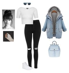 """""""Rainy Day Off"""" by hanakdudley ❤ liked on Polyvore featuring moda, Dolce&Gabbana, Christian Dior, Topshop e Vans"""