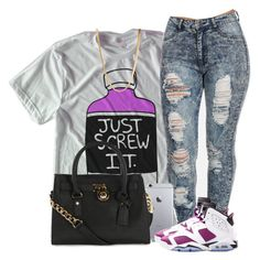 """""""Untitled #216"""" by uniquee-beauty ❤ liked on Polyvore featuring NIKE, Michael Kors and ASOS"""