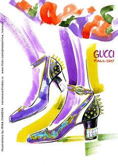 https://flic.kr/p/Sg9fhU | img844 | Gucci Fall 2017 Ready-to-Wear Collection. #runway #Gucci #FALL2017 #readytowear #fashionillustration #illustration #fashion #accessory #shoes #fun #drawing #watercolor #ink #fashionshow #fashionillustrator #иллюстрация #мода #обувь #artworkforsale #artwork #instafashion #fashioninsta