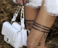 'Les Trompe L'Oeil de Chanel' Temporary Skin Art Brings Ink to High Fashion
