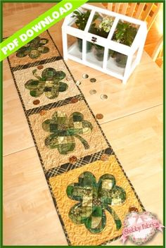 Patchwork Shamrock Table Runner