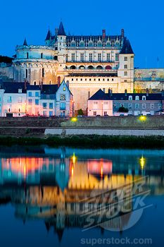 Castle at the waterfront, Chateau at Amboise, Loire River, Amboise, Indre Et Loire, France by © Yann Guichaoua