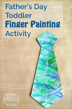 Father's Day Toddler Finger Painting Activity