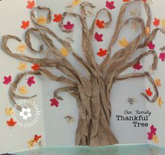 Thankful Tree Tutorial - love the shape of the tree, may try that next year