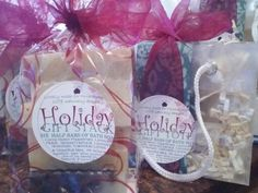 Two soap sampler styles for this season.... stack and tote.