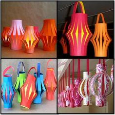 How to Make Paper Lanterns #stepbystep