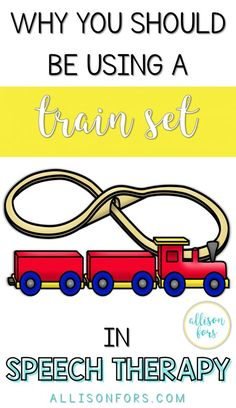 A train set it a popular toy in speech therapy – for both therapists and kids! Read ideas on how to use this versatile and motivating toy! Preschool Speech Therapy, Speech Therapy Activities, Speech Language Pathology, Speech And Language, Toddler Speech Activities, Preschool Songs, Language School, Train Activities, Language Activities
