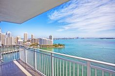 Private balcony at Yacht Club at Brickell