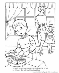 Image Result For Coloring Pages Lead Us Not Into Temptation