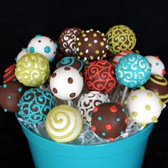 24 Celebration Cake Pop Assortment for birthday by SweetWhimsyShop, $56.00