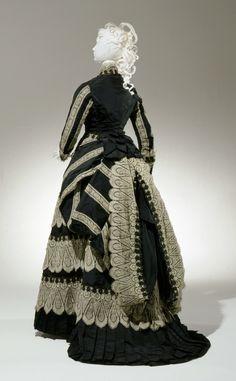 Afternoon Dress: Bodice and Skirt, 1874-1877. American (Cincinnati, Ohio). Silk…