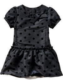 Baby Gap grey dress with black polka dots