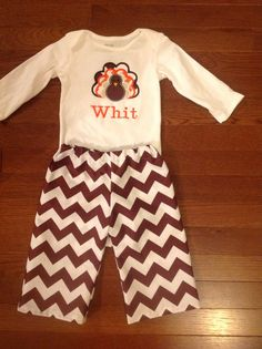handmade boutique brown chevron boys outfit by Thatsjustsewmaria, $27.00