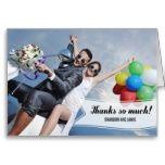 Shop Sweet Banner Wedding Thank You Card created by berryberrysweet. Photo Thank You Cards, Thank You Photos, Custom Thank You Cards, Wedding Thank You Cards, The Wedding Date, Wedding Photos, Wedding Ideas, Modern Wedding Invitations, Monogram Wedding