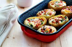 baked egg potato bowls recipe