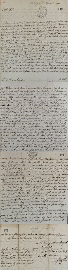 Letter from Lord Argyll to Lord Townshend, Secretary of State, 19 November 1715 (SP 54/10/64)