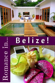Planning travel in Belize and want a romantic hotel in the jungle of San Ignacio? Check out these photos of beautiful rooms, a private pool, and delicious Honeymoon food!