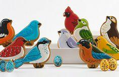love these bird cookies - so sweet for a birdie themed baby shower! Bird Cookies, Fancy Cookies, Cut Out Cookies, Cute Cookies, Cupcake Cookies, Sugar Cookies, Flower Cookies, Galletas Decoradas Royal Icing, Galletas Cookies