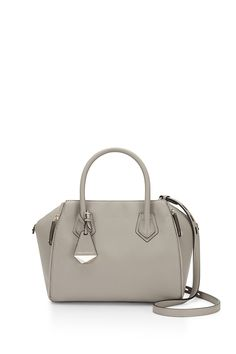 Mini Perry Satchel - Elegantly structured and crafted, the Mini Perry Satchel is the ideal everyday carryall. It's spacious enough to fit all your must-haves, but it won't weigh you down. Mini Handbags, Contemporary Fashion, Fashion Bags, Rebecca Minkoff, Personal Style, Satchel, Pouch, Purses, Baggage