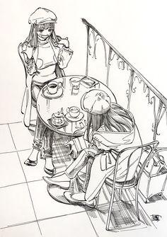Twitter Anime Art Girl, Manga Art, Posture Drawing, Cartoon Drawings, Art Drawings, Character Art, Character Design, Comic Tutorial, Anime Poses Reference