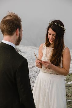 Eloping couple has ceremony in frosty conditions during their adventure elopement on Mt. Mansfield, Vermont's tallest mountain. Vermont mountain wedding. Vermont winter elopement. Vermont elopement packages. Vermont Winter, Alpine Adventure, Outdoor Weddings, Getting Engaged, Most Beautiful, Dress Up, Mountain, The Incredibles, Couples