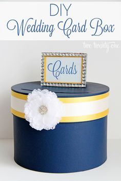 DIY wedding card box