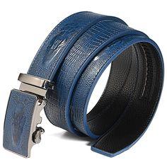 PU leather Belt Men Crocodile Aligator Grain Pattern Automatic Buckle  #me #art #instagood #smile #Shopping #Cute #follow #Fashion #fun #girl