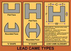 types of lead came for stained glass windows | Home , Image Archive , Design & Construction , References ...