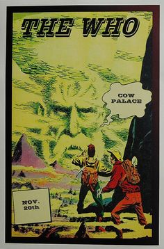 The Who Concert Tour Poster Cow Palace 1965