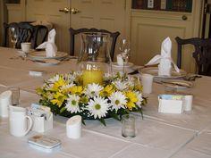 Mothers Day centerpiece, Archers Tavern, Colonial Williamsburg VA