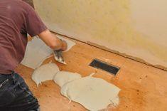 How to Tile a Bathroom, Shower Walls, Floor, Materials pics, Pro-Tips) - Emmerich Pirrie Garage Gym Flooring, Bathroom Renovations, Remodel Bathroom, Shower Remodel, Basement Remodeling, Bathroom Flooring, Bathroom Beadboard, Bathroom Plumbing, Plywood Subfloor