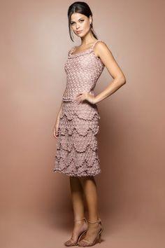 Vestido Crochet Bellini Madrepérola - Vanessa Mont - vanessamontoro