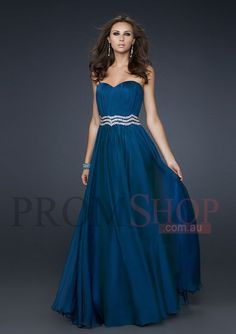 A-line/Princess Beading Chiffon Prom Evening Gowns