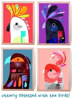 Colourful Modern Art from Pete Cromer – The Life Creative Peter Cromer – Vogelkunst Kids Art Class, Art For Kids, Primary School Art, Jungle Art, Animal Art Projects, Ecole Art, Art Curriculum, Art Activities For Kids, Idee Diy