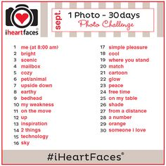 Join the @I Heart Faces | Photography September {1 Photo – 30 Days} Photo Challenge. #iHeartFaces