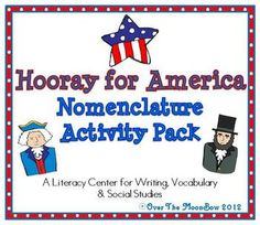 This patriotic themed nomenclature activity pack will help your students develop vocabulary & practice reading and spelling concepts!